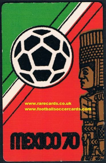 1970 Mexico WC70 felt postcard